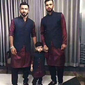 mashrafe, mashrafe brother, and his son